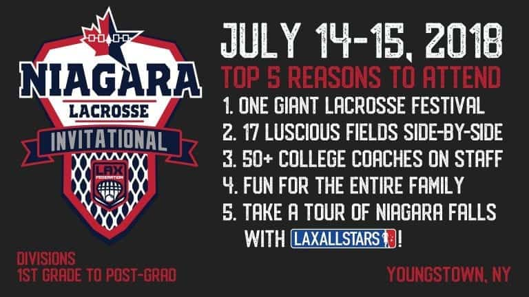 niagara lacrosse invitational - top five reasons to attend