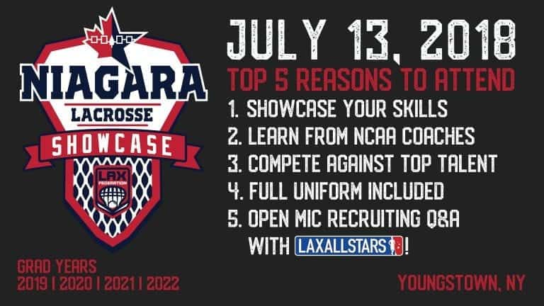niagara lacrosse showcase - why to attend