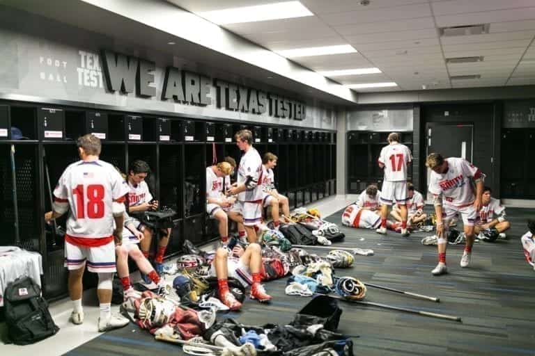 Adrenaline All-American treatment - locker rooms